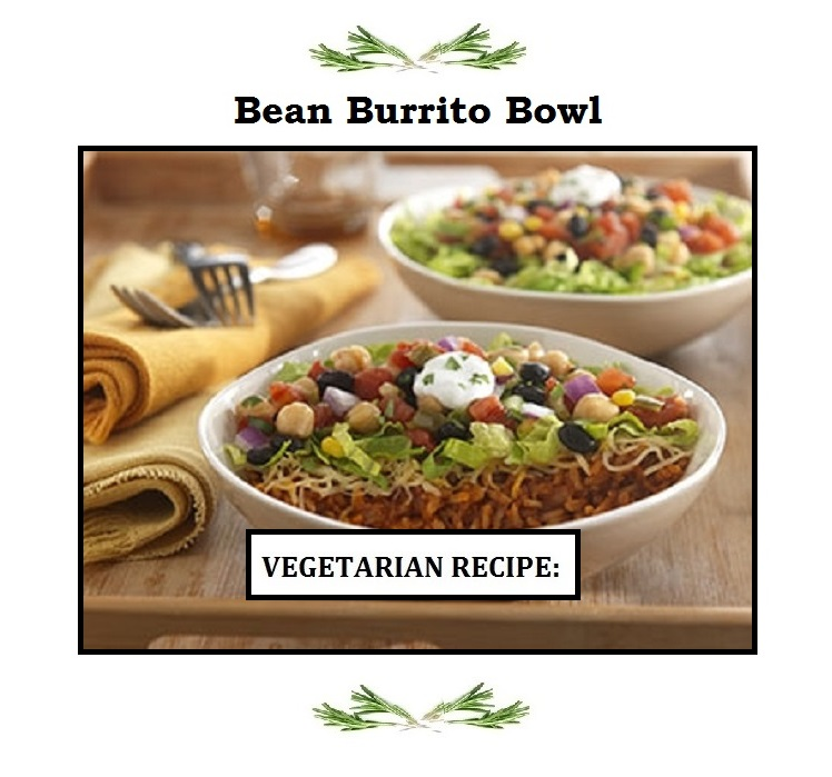 Bean Burrito Bowl ( Vegetarian )
