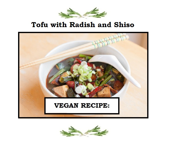 tofu with radish and shiso