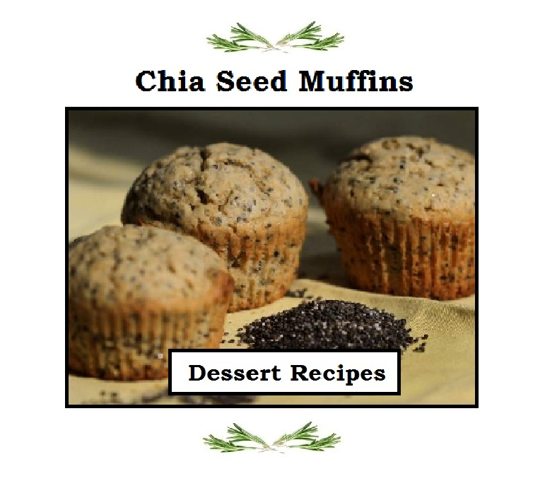 Just Eat Veggies Dessert Recipe, Chia Seed Muffins