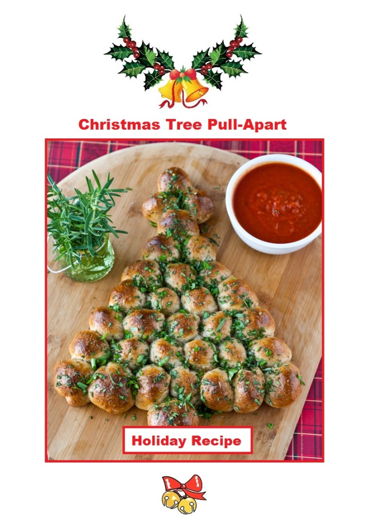 Just Eat Veggies Christmas Tree Pull-Apart Holiday Recipe