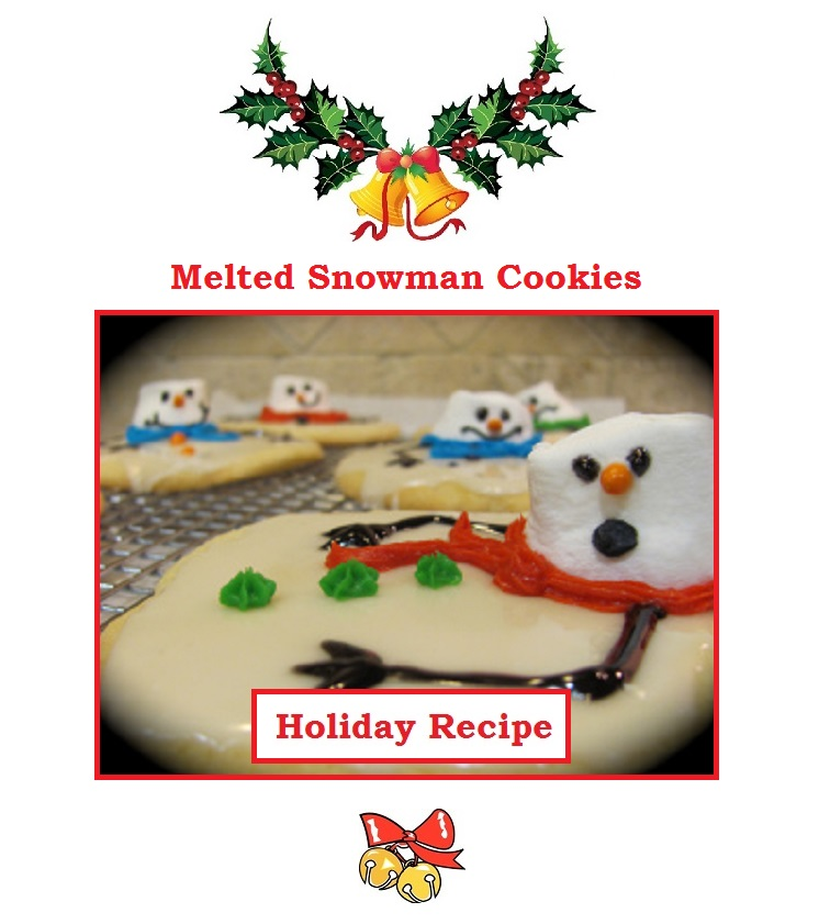 Just Eat Veggies Christmas Holiday Recipes about Melted Snowman Cookies
