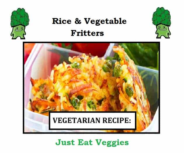 rice and vegetable fritters