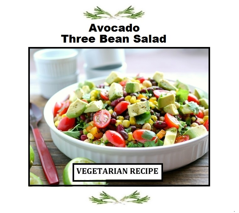 Just Eat Veggies Avocado Three Bean Salad