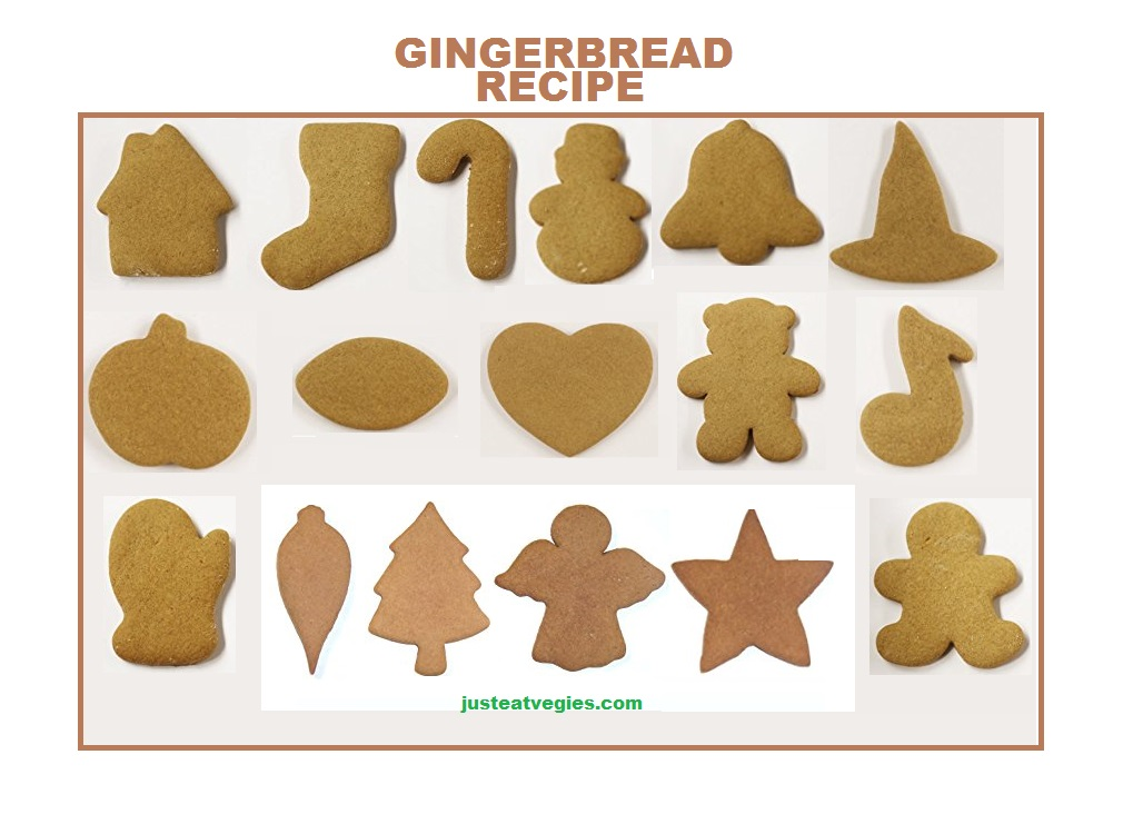 Just Eat Veggies Holiday Recipe Gingerbread Cookies